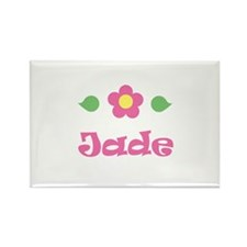 "Pink Daisy - ""Jade"" Rectangle Magnet"