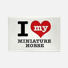 I love my Miniature Horse Rectangle Magnet