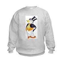 Penguin Arriving in style, 2 sided Sweatshirt