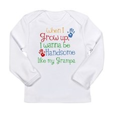 Handsome Like My Grampa Long Sleeve Infant T-Shirt