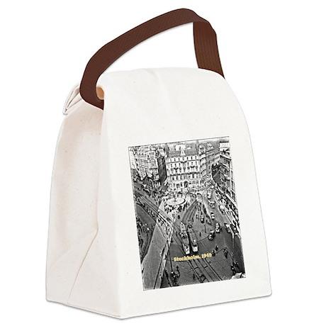 Stockholm 1949, vintage photo Tra Canvas Lunch Bag