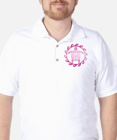 Pink Tribal Turtle Sun T-Shirt
