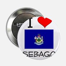 "I Love Sebago Maine 2.25"" Button"