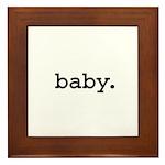 baby. Framed Tile