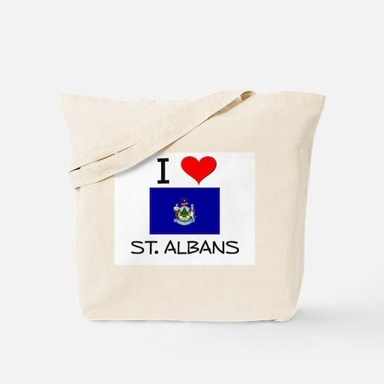 I Love St. Albans Maine Tote Bag