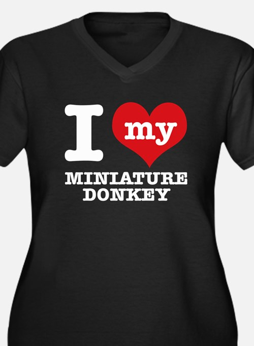 I love my Miniature Donkey Women's Plus Size V-Nec