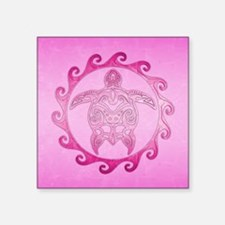 Pink Tribal Turtle Sun Sticker