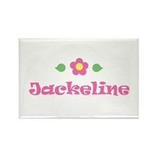 "Pink Daisy - ""Jackeline"" Rectangle Magnet"