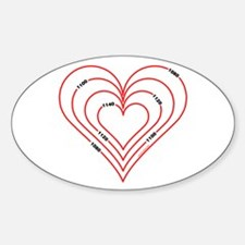 Civil Engineering Heart Oval Decal