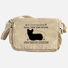 Become Skye Terrier mommy designs Messenger Bag