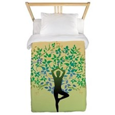 Yoga Tree Pose Twin Duvet