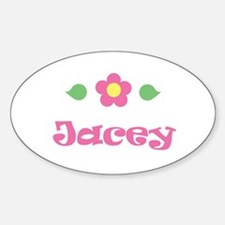 """Pink Daisy - """"Jacey"""" Oval Decal"""