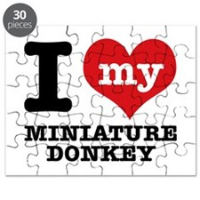 I love my Miniature Donkey Puzzle