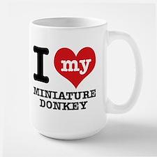 I love my Miniature Donkey Large Mug