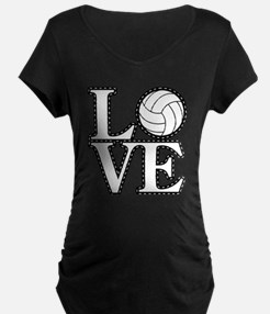 Love Volleyball Maternity T-Shirt