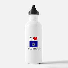 I Love Washburn Maine Water Bottle