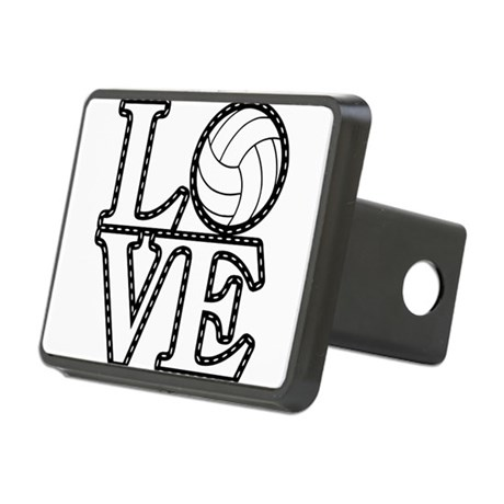 Love Volleyball Hitch Cover by Teecreation