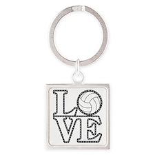 Love Volleyball Keychains