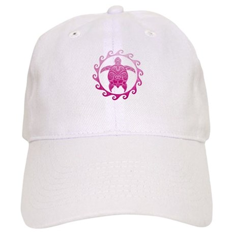 Pink Turtle Sun Baseball Cap