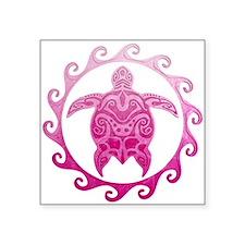 Pink Turtle Sun Sticker