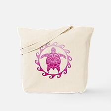 Pink Turtle Sun Tote Bag