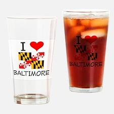 I Love Baltimore Maryland Drinking Glass