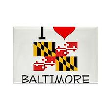 I Love Baltimore Maryland Magnets