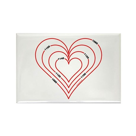 Civil Engineering Heart Rectangle Magnet (10 pack)