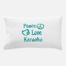 Peace Love Karaoke Pillow Case