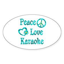 Peace Love Karaoke Decal