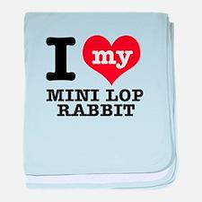 I love my Mini Lop Rabbit baby blanket