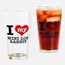I love my Mini Lop Rabbit Drinking Glass