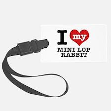 I love my Mini Lop Rabbit Luggage Tag