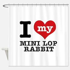 I love my Mini Lop Rabbit Shower Curtain
