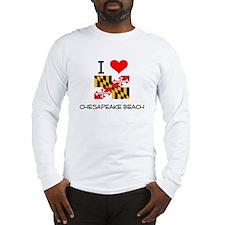 I Love Chesapeake Beach Maryland Long Sleeve T-Shi
