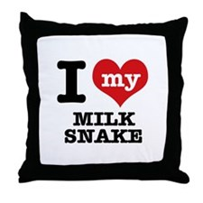 I love my Milk Snake Throw Pillow