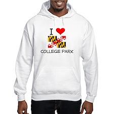 I Love College Park Maryland Hoodie