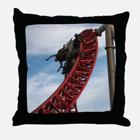 Cedar Point Maverick Roller Coaster Throw Pillow