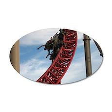 Cedar Point Maverick Roller  35x21 Oval Wall Decal