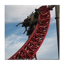 Cedar Point Maverick Roller Coaster Tile Coaster