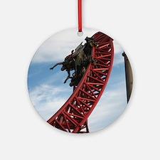 Cedar Point Maverick Roller Coaster Round Ornament
