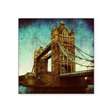 "vintage London Bridge  Square Sticker 3"" x 3"""