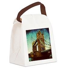 vintage London Bridge  Canvas Lunch Bag