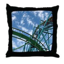 Cedar Point Raptor Roller Coaster Throw Pillow