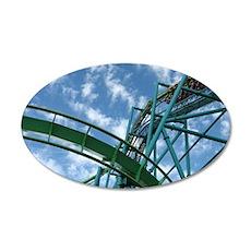Cedar Point Raptor Roller Co 35x21 Oval Wall Decal