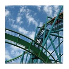 Cedar Point Raptor Roller Coaster Tile Coaster