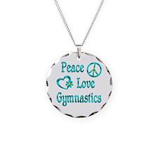 Peace Love Gymnastics Necklace