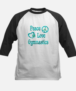 Peace Love Gymnastics Kids Baseball Jersey