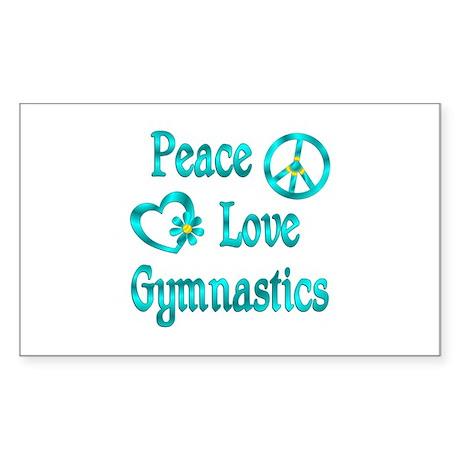 Peace Love Gymnastics Sticker (Rectangle 10 pk)