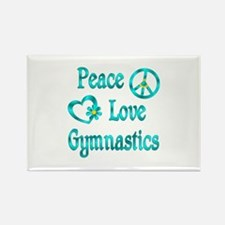 Peace Love Gymnastics Rectangle Magnet